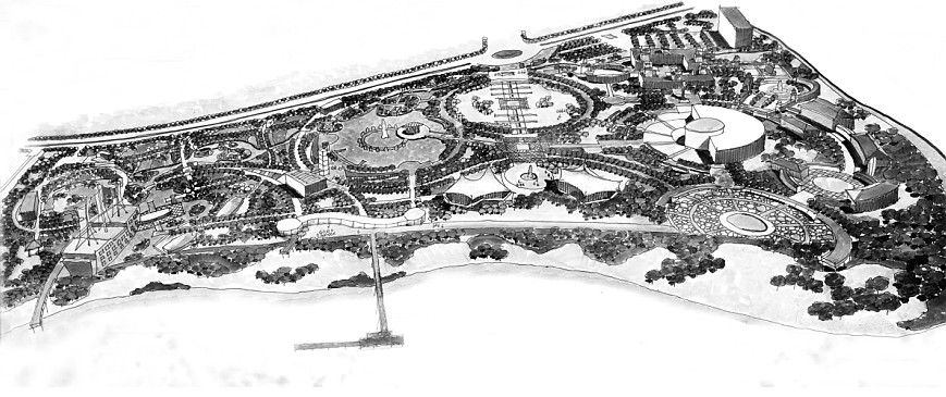 南京第二长江大桥儿童主题公园规划概念-园林绿化