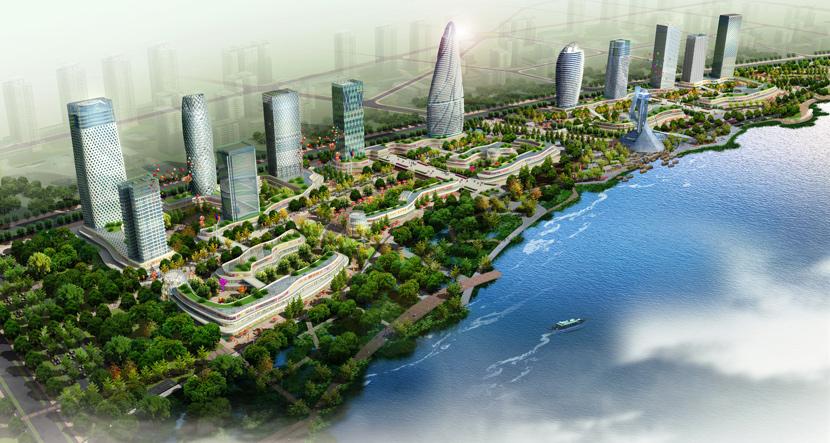 项目位于江苏扬中南部,占地面积149万平方米,与夹江为邻,与玫瑰岛相望
